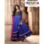 Fantasy Blue Colored Georgette Designer Suit