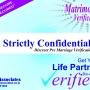 Pre matrimonial Verification