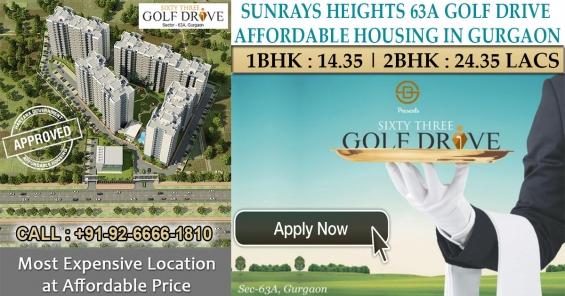 Sunrays heights 63a golf drive gurgaon   call 9266661810