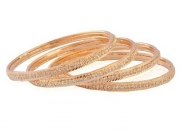 Aria Bridal Collection Gold Plated Cz Round Bangle for Women
