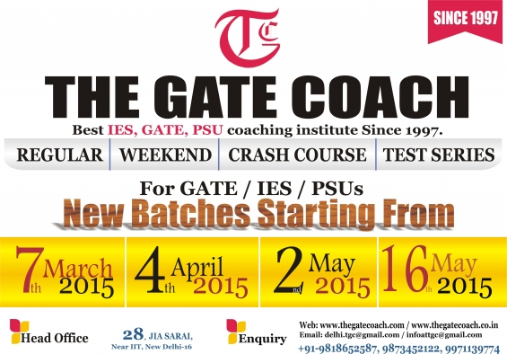 Batch started for mechanical engineering gate 2016