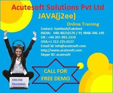 Java course | java online training at acutesoft