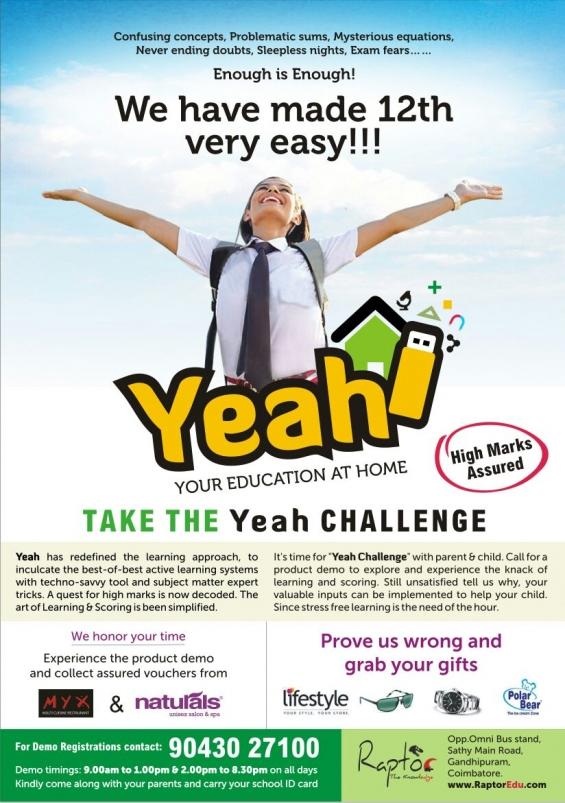 Take the yeah challenge