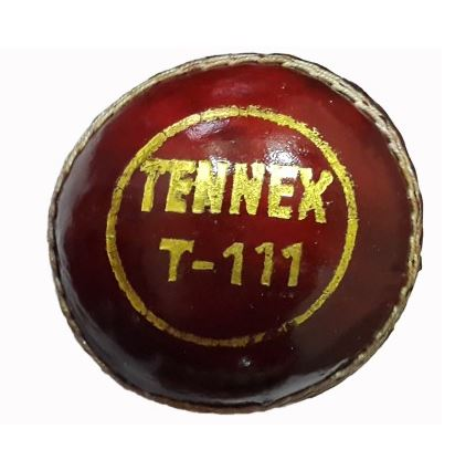 Buy tennex leather t-111 red cricket ball online