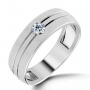 Platinum Rings and Bands Studded With Diamonds at Wholesale Price