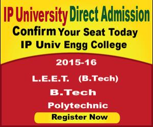 Ip university b.tech direct admission