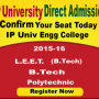 IP University B.tech Direct Admission