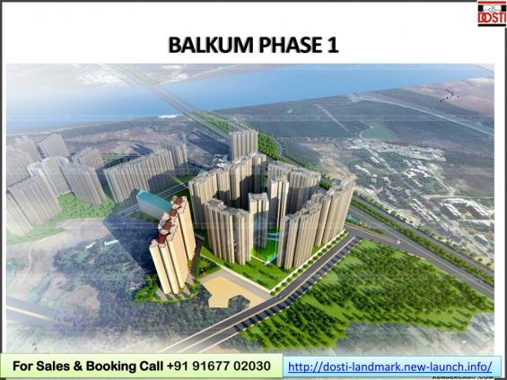New-launch dosti codename landmark by the dosti group in balkum, thane