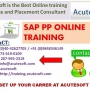 SAP PP | SAP PP Online Training at Acutesoft
