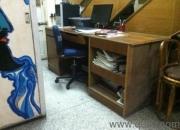 Big wooden computer table