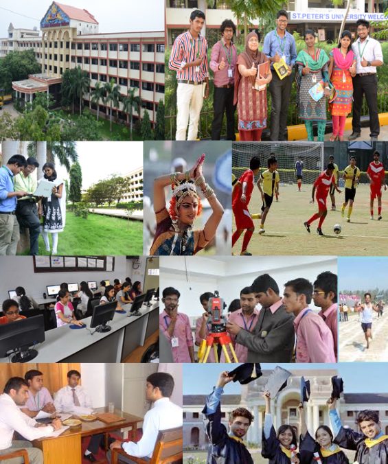 Admissions in st peter's university chennai 2015 opened