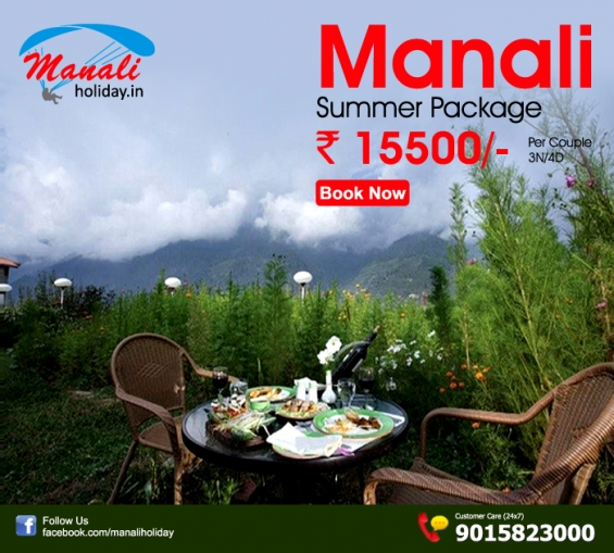 Book manali summer vacation package at rs 15500 for 03n/04d
