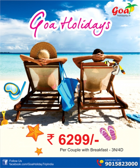 Goa Summer Holiday Package At Rs 6299 For 03n 04d