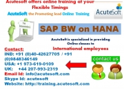 Sap bw on hana | sap bw on hana online training at acutesoft