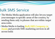 Mesha media bulk sms service in delhi ncr for new business