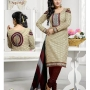 SuperHit - Cotton Printed Suits with Cotton Dupatta-Sandal&Brown