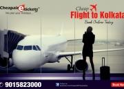 Book Cheap Flight tickets to kolkata at Discounted prices
