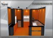Portable exhibition kit, folding event kit