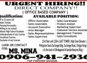 Urgent hiring! direct company!