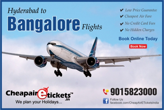 Book hyderabad to bangalore flight tickets at discounted prices