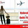 Cheap Hyderabad to delhi flights tickets book online
