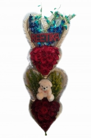 Get Best Delivery of Red Rose With Teddy in Rohini