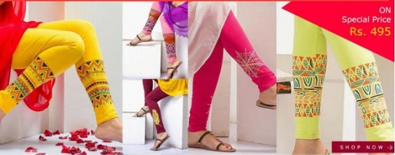 Buy printed leggings and kurtis online