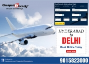 Plan heritage tour from hyderabad to delhi with cheap flight