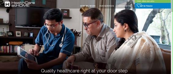 Health care at home, health care home, home health care- hcat india