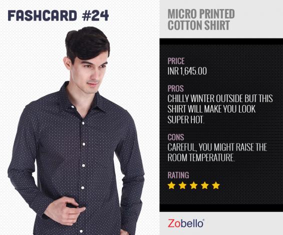 Buy dot printed shirts for men online in india | zobello.com