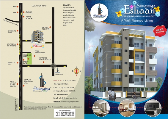 Near kalyani motors 3bhk luxury flats for sale @ bannerghatta road