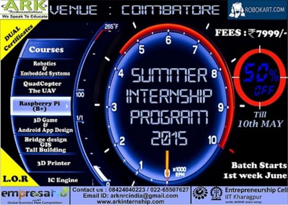 Summer internship program 2015
