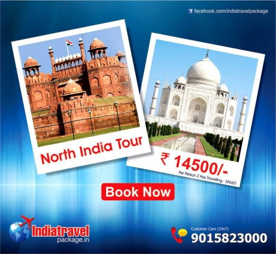 North india tour packages at just rs 9000 for 05n / 06d