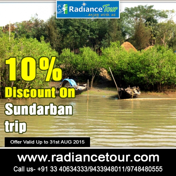 Great discount of 10% on sundarban tour package