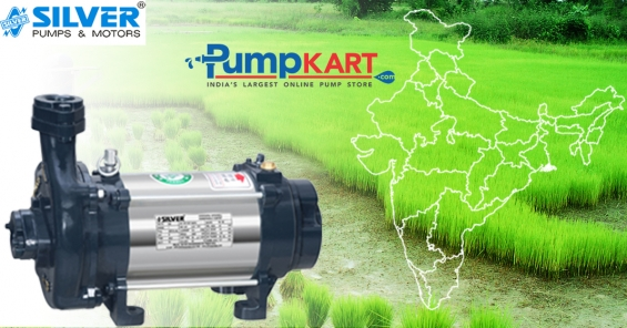Silver three phase and single phase open well pumps online in india
