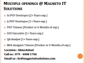 Urgent Openings for PHP Developer, SEO, QA, Web Designer in Ahmedabad