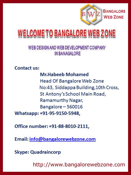Welcome to bangalore web zone - web development company bangalore