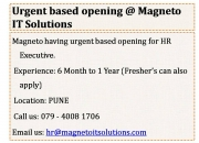 Urgent openings for hr | admin executive @ pune
