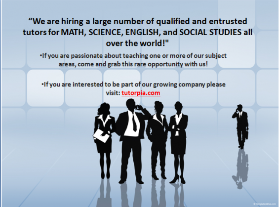 We are looking for academic tutors