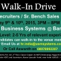 Walk-In drive in Bangalore for Sr.US IT & Bench Sales Recruiters
