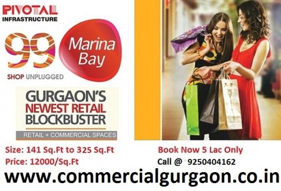 99 marina bay shops 141 sq.ft 16.92 lac sector 99 gurgaon