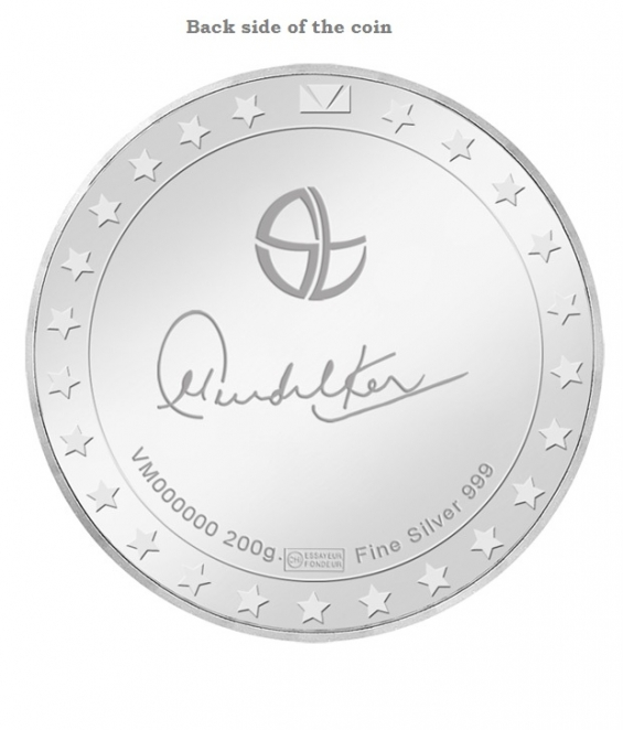 Sachin tendulkar limited collector's edition swiss silver