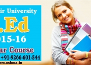 Kashmir University B.Ed Admission 2015