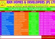 Plots for sale in tirupathi - from rs.3lakshs