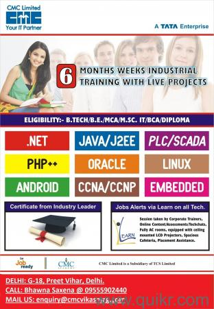6 weeks summer internship in cmc-tcs delhi/noida