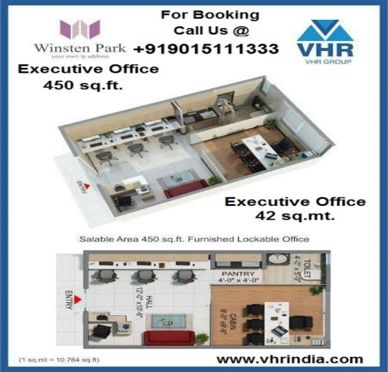 Furnished office space noida extension 450 sq. ft.