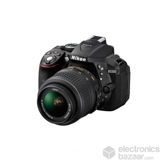 Nikon dslr d5300 with lens 18-55 mm