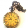 Antique look victoria london 1876 pocket watch with chain