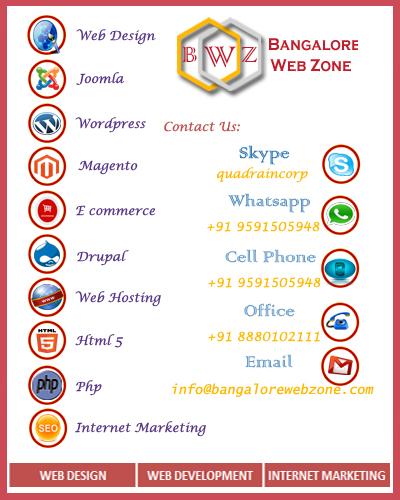 Bangalore web zone-megento web design company in bangalore