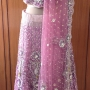 Purple Net Stone work Lehenga